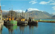 B4817 Ben Nevis and fishing Boats in the Canal Basin at Corpach  front/back scan