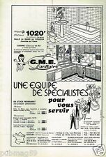 Publicité advertising 1976 Sanitaire GME