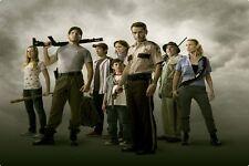 "The Walking Dead AMC TV Serie Season 1 ""All Main Stars"" Canvas Poster 36""x24"""
