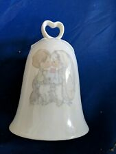 Precious Moments Wedding Bell Bride Groom The Lord must have brought you togethe