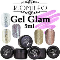 SALE Komilfo GLAM GEL NEW Nail Polish 5ml For Nail Art Gold Bronze Silver Pink
