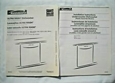 Kenmore Ultra Wash Dishwasher Owners Manual & Installation Instructions