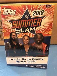 2019 Topps WWE Summerslam Wrestling 10ct Blaster Box