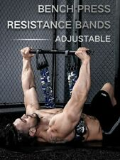Bench Press Push Up Resistance Band Removable Chest Builder Arm Expander Home