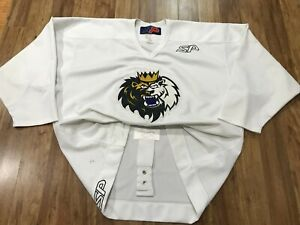 MENS 56 - Vtg AHL Manchester Monarchs SP Fight Strap Sewn Jersey Canada