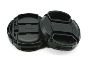 37mm Universal Front Lens Cap Centre Pinch Snap-on for all Lenses - UK STOCK