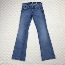7 for All Mankind Lexie Petite Bootcut Jeans Womens Stretch Cotton Sz 24 X 30.5