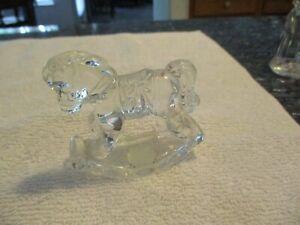 Princess House Rocking Horse 24% Lead Crystal Clear Glass Figurine