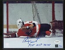Bernie Parent Signed 8x10 Photo JSA Sticker Only Autograph AUTO