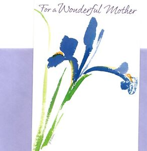Happy Mother's Day Mother Purple Iris Irises Theme Hallmark Greeting Card
