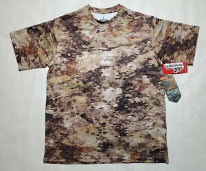 NWT Mens Habit Raider Concealment Hunting Camo Scent Factor Wicking S/S Shirt L
