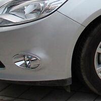 ABS Chrome head Front Fog light Lamp Cover bezel trim For Ford Focus 3 2012-2015