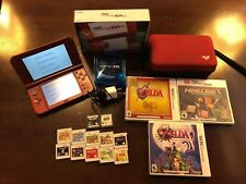 Nintendo New 3DS XL Red Handheld System with 8GB SD, Carrying Case, & 12 Games!