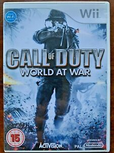 Call of Duty World at War Wii Game First Person Shooter World War II WW2