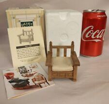 Take A Seat Raine Willitts Dollhouse Furniture Patio Chair c1990 24017 Coa 2000