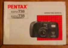 Pentax Espio 738 Film Camera Instruction Book Manual User Guide