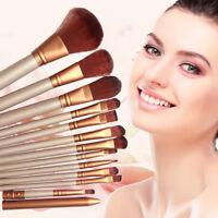12pcs/Set Pro Makeup Cosmetic Brushes Powder Foundation Eyeshadow Lip Tools Kit