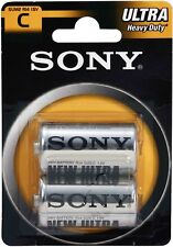 Sony Size C Batteries R14- 1.5v (Pack of 2) Royal Mail 1st Class delivery