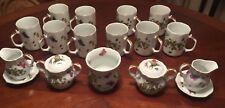 Vintage Royal Crown Spring Time Tea Set (Japan) Butterflies Strawberries 29 pc