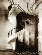Spiral Staircase in Mormon Temple, Salt Lk City, UT - 1912 -Historic Photo Print