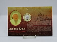 More details for antique genghis khan copper coin - c.1200 - on card