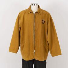 Mens 100% Cotton Jacket Size XL Brown