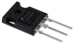 2 x Fairchild FGH75N60UFTU IGBT Transistor 150A 600V Inverter DC-DC 3-Pin TO-247