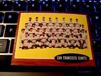 1962 Topps Baseball 226 San Francisco Giants Team Mays Cepeda ExMt/Nm