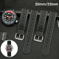20mm/22mm Rubber Waffle Watch Strap Soft Band Divers Watch k
