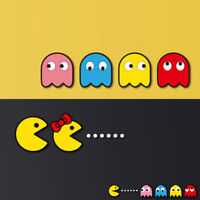 Fashion Pacman Fun Car Sticker Window Decal Vinyl Bumper Tailgate Tuning Styling