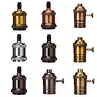 Edison Vintage Rustika Pendellampe GlühbirneHalter Sockel Fassung Socket Neu