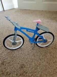 Mattel Vintage Barbie RARE Blue Bicycle Push Bike Toy With Pink Seat 2000