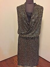 New Diane von Furstenberg ISSIA DRESS SL EMBELLISH 100% Silk  Size 8  $598