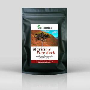 Maritime Pine Bark 50g Powder Extract, 95% Pycnogenol & Proanthocyanidins (OPC)