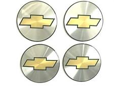"4 NEW Wheel Center Cap Logo Sticker Decal Emblem 3.5"" 88mm CHEVY CHEVROLET DOMED"