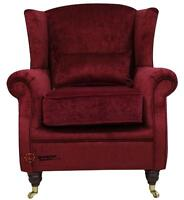Ashley Fireside High Back Wing Armchair Pimlico Rouge Red Fabric
