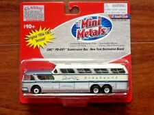 CLASSIC METAL WORKS 1/87 HO GMC GREYHOUND  SCENICRUISER BUS NEW YORK # 33101 F/S
