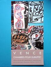 Jean DUBUFFET Affiche originale 95 Les Données de l'instant Art brut Dada Vence