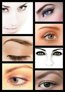 SALON SPA HEALTH BEAUTY EYES EYEBROW SHAPING COLLAGE A3 260GSM POSTER PRINT