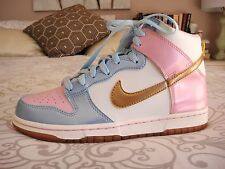 NIKE DUNK HIGH TOP SNEAKERS TRAINERS JAPAN SHIINY BLUE PINK GOLD NEW US 8/8.5