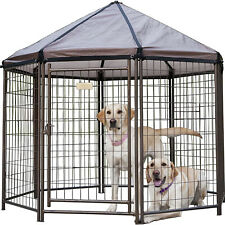 Advantek 5 Foot Indoor Outdoor Metal Pet and Dog Gazebo with Cover (For Parts)