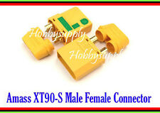AMASS Genuine XT90-S Male, Female Connector Plug for RC Li-poly Battery 1 SET