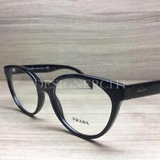 b1e6271f617b Prada VPR01T Eyeglasses Shiny Black 1AB-1O1 Authentic 53mm