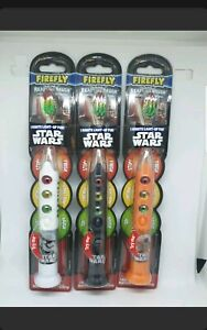 3x Star Wars Kids Light up 1 Minute Timer Toothbrush Firefly, Disney