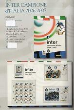 folder postali inter campione d italia 2006-2007