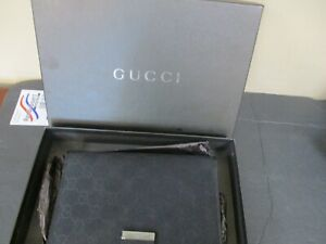 Auth GUCCI GG Canvas Leather Agenda Daily Planner Cover Black w/Box 16006bkac