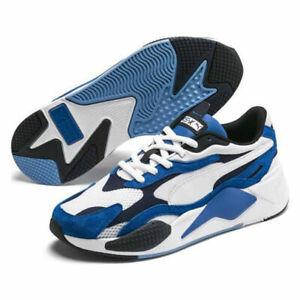 PUMA Mens RS X3 Super Palace Blue White Trainers Mens Shoes 372884 02 UK 7