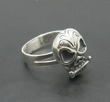 STERLING SILVER RING 925 SKULL BIKER ADJUSTABLE SIZE
