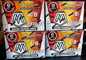4 / 2020-21 PANINI MOSAIC LALIGA SOCCER RETAIL BLASTER BOXES