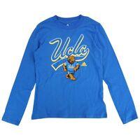 "UCLA Bruins Adidas NCAA Youth Blue ""Swirl Big Mascot"" Long Sleeve T-Shirt"